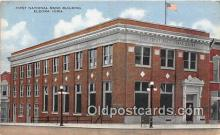 bnk001283 - First National Bank Building Eldora, Iowa, USA Postcard Post Card