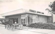 bnk001292 - Farmers Savings Bank Kalona, Iowa, USA Postcard Post Card