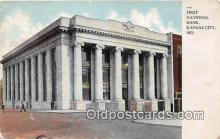 bnk001306 - First National Bank Kansas City, MO, USA Postcard Post Card