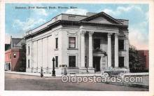 bnk001332 - Exterior, First National Bank Winona, Minn, USA Postcard Post Card