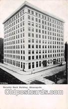 bnk001350 - Security Bank Building Minneapolis, Minn, USA Postcard Post Card