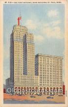 bnk001352 - First National Bank Building St Paul, Minn, USA Postcard Post Card