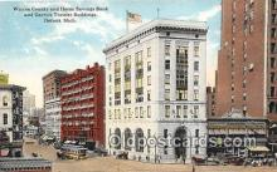 bnk001365 - Wayne County & Home Savings Bank Detroit, Mich, USA Postcard Post Card