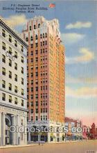 bnk001371 - Saginaw Street, Peoples State Building Pontiac, Mich, USA Postcard Post Card
