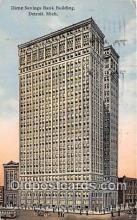 bnk001376 - Dime Savings Bank Building Detroit, Mich, USA Postcard Post Card