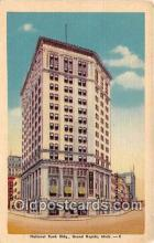 bnk001377 - National Bank Building Grand Rapids, Mich, USA Postcard Post Card
