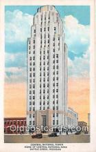 bnk001380 - Central National Tower, Home of Central National Bank Battle Creek, Michigan, USA Postcard Post Card