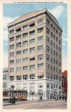 bnk001382 - City Bank of Battle Creek Battle Creek, Michigan, USA Postcard Post Card