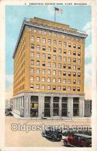bnk001384 - Industrial Savings Bank Flint, Michigan, USA Postcard Post Card