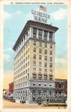 bnk001385 - Genesee County Savings Bank Flint, Michigan, USA Postcard Post Card