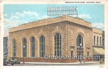 bnk001388 - American State Bank Saginaw, Mich, USA Postcard Post Card