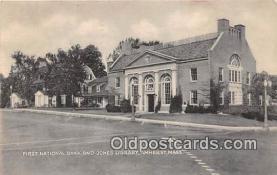 bnk001389 - First National Bank & Jones Library Amherst, Mass, USA Postcard Post Card
