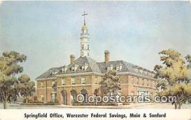 bnk001390 - Springfield Office, Worcester Federal Savings Springfield, Massachusetts, USA Postcard Post Card