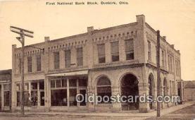 bnk001407 - First National Bank Block Dunkirk, Ohio, USA Postcard Post Card