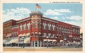 bnk001411 - Farmers National Bank Bryan, Ohio, USA Postcard Post Card