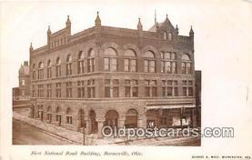 bnk001412 - First National Bank Building Barnesville, Ohio, USA Postcard Post Card