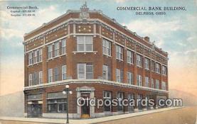 bnk001422 - Commercial Bank Building Delphos, Ohio, USA Postcard Post Card