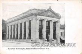 bnk001449 - Exterior Exchange National Bank Olean, NY, USA Postcard Post Card