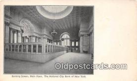 bnk001456 - Banking Screen, Main Floor, National City Bank of New York New York, USA Postcard Post Card