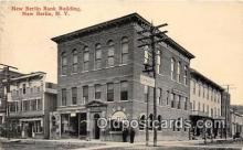 bnk001457 - New Berlin Bank Building New Berlin, NY, USA Postcard Post Card