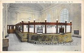 bnk001466 - Interior Amsterdam Savings Bank Amsterdam, NY, USA Postcard Post Card