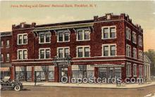 bnk001480 - Union Building & Citizens National Bank Frankfort, NY, USA Postcard Post Card