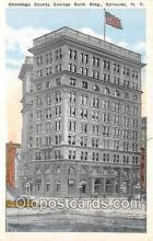 bnk001484 - Onondaga County Savings Bank Building Syracuse, NY, USA Postcard Post Card