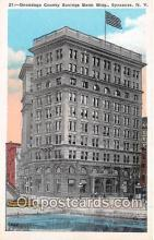 bnk001485 - Onondaga County Savings Bank Building Syracuse, NY, USA Postcard Post Card