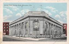 bnk001504 - Second Ward Savings Bank Milwaukee, Wis, USA Postcard Post Card