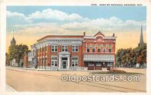 bnk001510 - Bank of Menasha Menasha, Wis, USA Postcard Post Card