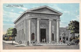 bnk001512 - First National Bank Wisconsin Rapids, Wis, USA Postcard Post Card