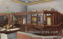 bnk001513 - Interior, Farmers & Merchants Bank Jefferson, Wis, USA Postcard Post Card