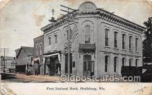 bnk001514 - First National Bank Shullsburg, Wis, USA Postcard Post Card