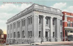 bnk001515 - First National Bank Building Viroqua, Wis, USA Postcard Post Card