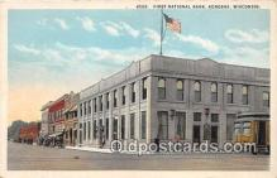bnk001523 - First National Bank Kenosha, Wisconsin, USA Postcard Post Card