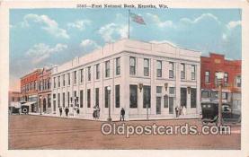 bnk001525 - First National Bank Kenosha, Wisconsin, USA Postcard Post Card