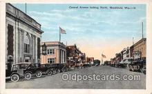 bnk001529 - Central Ave Marshfield, Wis, USA Postcard Post Card