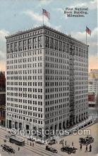 bnk001533 - First National Bank Building Milwaukee, Wis, USA Postcard Post Card