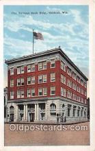 bnk001538 - City National Bank Building Oshkosh, Wis, USA Postcard Post Card