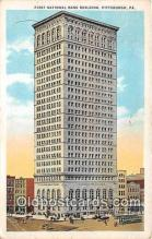 bnk001556 - First National Bank Building Pittsburgh, PA, USA Postcard Post Card