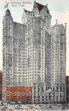 bnk001568 - City Investing Building New York, USA Postcard Post Card