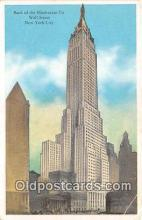 bnk001575 - bank of the Manhattan Co Wall Street, New York City, NY, USA Postcard Post Card