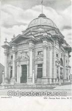 bnk001577 - Savings Bank Utica, NY, USA Postcard Post Card