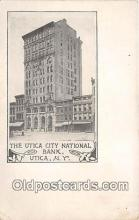 bnk001582 - Utica City National Bank Utica, NY, USA Postcard Post Card