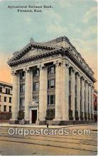 bnk001587 - Agricultural National Bank Pittsfield, Mass, USA Postcard Post Card