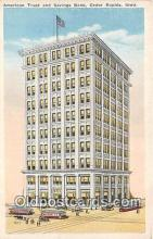 bnk001603 - American Trust & Savings Bank Building Cedar Rapids, Iowa, USA Postcard Post Card