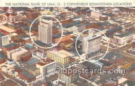 bnk001641 - National Bank of Lima Lima, Ohio, USA Postcard Post Card
