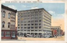 bnk001645 - Eccles Building Ogden, Utah, USA Postcard Post Card