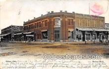 bnk001646 - Business Block Hobart, Oklahoma, USA Postcard Post Card