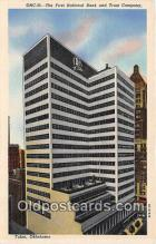 bnk001655 - First National Bank & Trust Company Tulsa, Oklahoma, USA Postcard Post Card